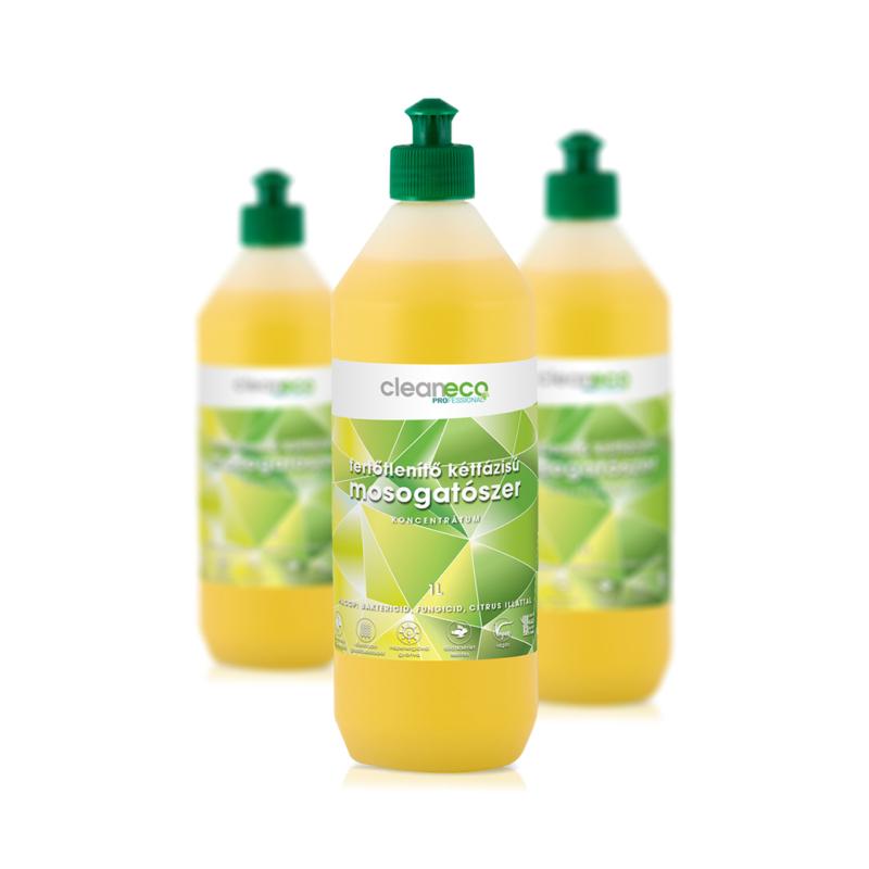 Cleaneco Kétfázisú fertőtlenítő mosogatószer koncentrátum 1l