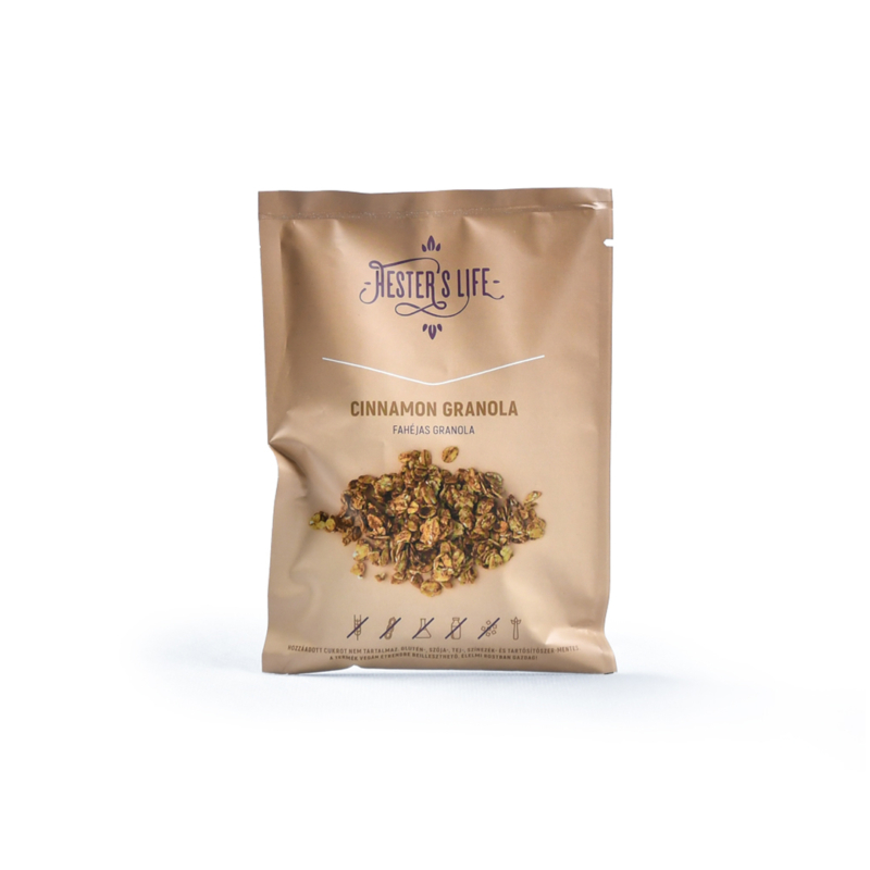 Hester's Life Útravaló fahéjas granola