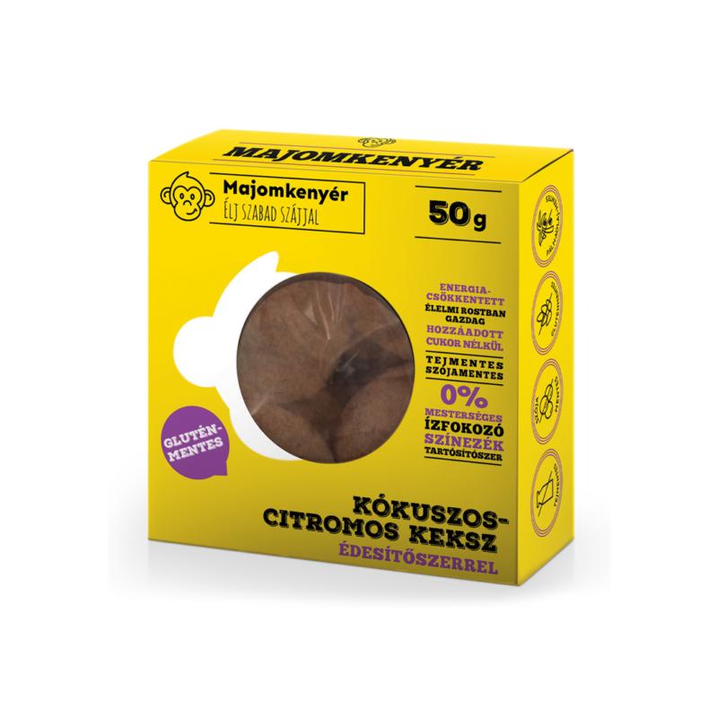 Majomkenyér Kókuszos-citromos paleokeksz