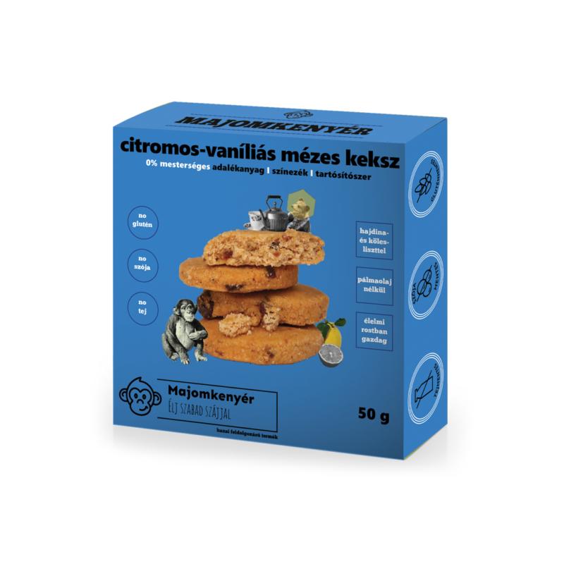 Majomkenyér Citromos-mézes keksz vaníliával